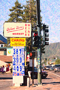 Gas Stations Prints - Tahoe Toms Market And Gas Station Print by Wingsdomain Art and Photography
