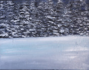 Overcast Day Paintings - Tahoe by Tricia lee Kelshall