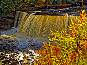 Michigan Fall Colors Posters - Tahquamenon Falls Poster by Steve Harrington