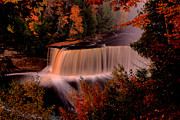 Matthew Winn Art - Tahquamenon in Autumn by Matthew Winn