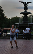 Bethesda Fountain Prints - Tai Chi in the Park Print by Lee Dos Santos