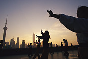 Bund Photos - Tai Chi On The Bund In The Morning by Justin Guariglia