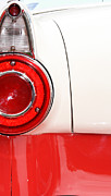 Teen Decor Framed Prints - Tail Light in Red and White Framed Print by ArtyZen Studios