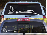 Kevin Brant Tapestries - Textiles - TAILING REDFISH WINDOW DECAL  to order please go to www.kevinbrant.com by Kevin Brant