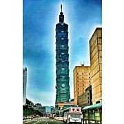 Recently Sold - Featured Art - Taipei 101 (chinese: 台北101 / by Tommy Tjahjono