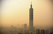 Vignette Framed Prints - Taipei 101 Framed Print by Leung Cho Pan