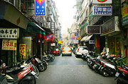 Taiwan Street Print by Isabel Poulin