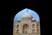 Beauty Acrylic Prints - Taj Archway Acrylic Print by Nila Newsom