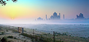 Uttar Pradesh Prints - Taj At Dawn Print by Dr. Satyaki Basu Photography