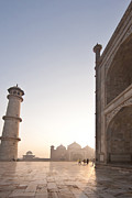 India Metal Prints - Taj Dawn Metal Print by Mike Reid