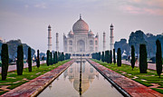 Sun Rise Art - Taj by Jane Sheng