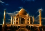 Monument Digital Art Originals - Taj Mahal  by Abhishek Singh