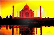 Mahal Digital Art Posters - Taj Mahal Monument of Love Poster by Piety DSILVA