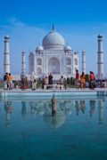 Architecture Photos - Taj Mahal  by Nila Newsom