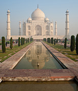 India Metal Prints - Taj Mahal Reflected Metal Print by Mike Reid