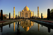 India Photo Acrylic Prints - Taj Mahal Acrylic Print by Tayseer AL-Hamad