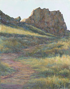 Hiking Pastels Posters - Take a Hike Poster by Billie Colson