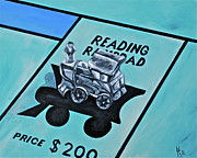 Monopoly Paintings - Take a Ride on the Reading  by Herschel Fall