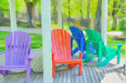Wooden Chair Prints - Take a Seat but Dont Take a Chair Print by Jeff Kolker