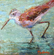 Sandpiper Painting Framed Prints - Take A Step Framed Print by Marie Hamby