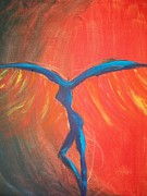 Dave Matthews Painting Prints - Take Flight Print by Laurette Escobar