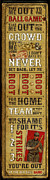 Old Mixed Media Metal Prints - Take Me Out the the Ballgame Metal Print by Jeff Steed