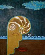 Yemaya Paintings - Take the Pearl Leave the Shell  by Laila Espinoza
