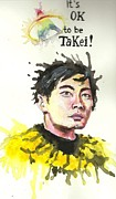 Geek Painting Posters - Takei Poster by Eliza Shoop