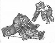 Hockey Drawings Originals - Takes Everthing To Win by Dean Herbert