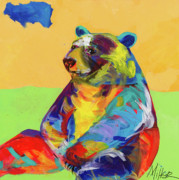 Colorful Contemporary Art - Taking a Break by Tracy Miller