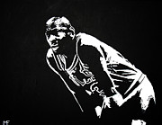 Michael Jordan Paintings - Taking a Breather by Matthew Formeller