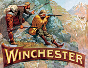 Winchester Posters - Taking Aim Poster by Fredrick Remington