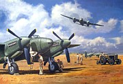 Usaf Painting Framed Prints - Taking Delivery - Mosquito Framed Print by Colin Parker