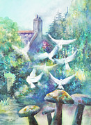 Stone Cottage Paintings - Taking Flight by Kate Bedell