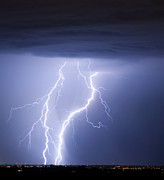 Lightning Bolt Pictures Prints - Taking It To The Ground Print by James Bo Insogna