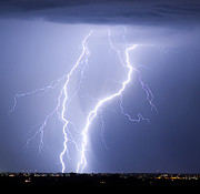 Lightning Weather Stock Images Prints - Taking It To The Street Print by James Bo Insogna