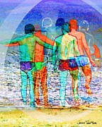 Gay Digital Art - Taking the Plunge Together by Jeffrey Todd Moore