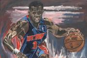 Nba Painting Framed Prints - Taking The Point Framed Print by David Courson