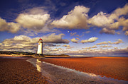 Lighthouse Metal Prints - Talacre Lighthouse Metal Print by Mal Bray