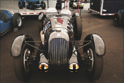 Indy Car Framed Prints - Talbot Lago 26 Ss In Pit Framed Print by Curt Johnson