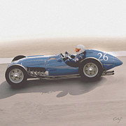 Indy Car Prints - Talbot Lago T26c 1950  Print by Curt Johnson