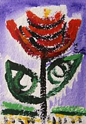 Tali Drawings Posters - Tali-Flowers from the Flower Patch Poster by Mary Carol Williams
