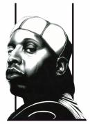 Star Drawings Posters - Talib Kweli Poster by Robert Shoemaker IV