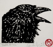 Blackbird Drawings Metal Prints - Talk to Me Metal Print by Andrew Jagniecki