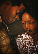 Artist Curtis James Pastels - Talk To Me Baby by Curtis James