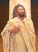 African-american Paintings - Talkin Bout Jesus by Raymond Walker