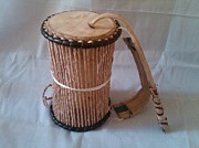 Talking Mixed Media - Talking drum by Jolaosho Ajibola