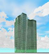 Building Digital Art - Tall and Green by Ron Bissett