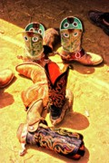 Rodeo Art Digital Art Originals - Tall Boots by Gus McCrea