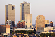 Office Space Metal Prints - Tall Buildings in Fort Worth at Dusk Metal Print by Jeremy Woodhouse